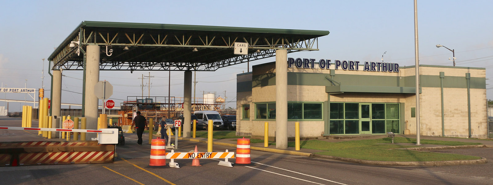 Port of Port Arthur Dock Terminal Entrance and Office